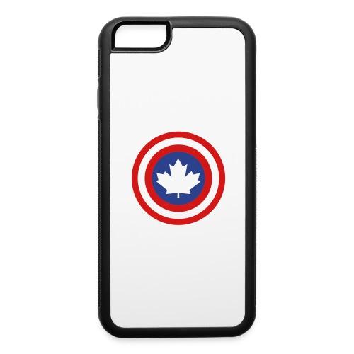 Captain Canada Shield 2 Colour - iPhone 6/6s Rubber Case