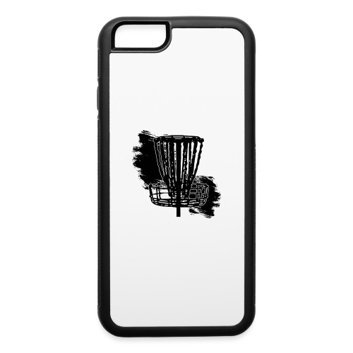 Disc Golf Basket Paint Black Print - iPhone 6/6s Rubber Case