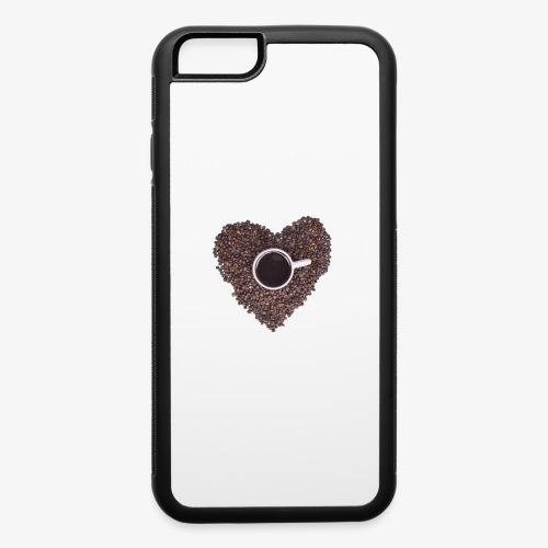 I Heart Coffee Black/White Mug - iPhone 6/6s Rubber Case