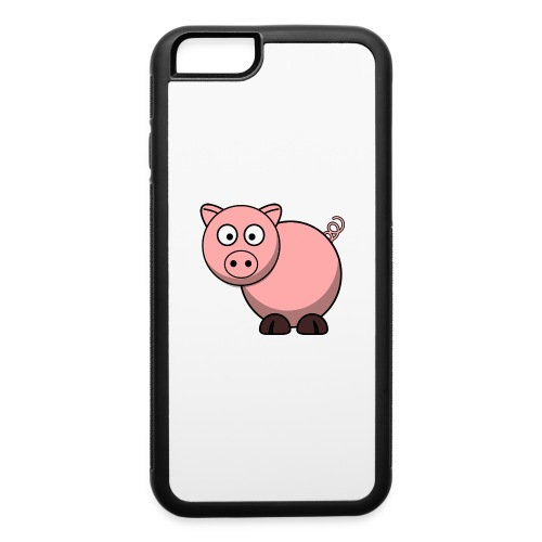 Funny Pig T-Shirt - iPhone 6/6s Rubber Case