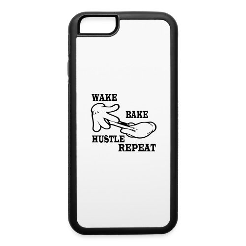 Wake bake hustle repeat - iPhone 6/6s Rubber Case