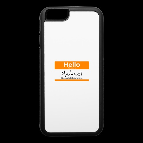 Hello My Name Is Michael | Killer Nametag - iPhone 6/6s Rubber Case