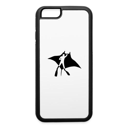 manta ray sting scuba diving diver dive fish ocean - iPhone 6/6s Rubber Case