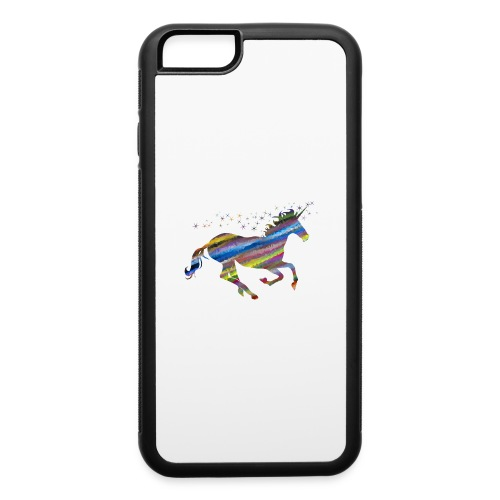 The Majestic Prismatic Streaked Magical Unicorn - iPhone 6/6s Rubber Case