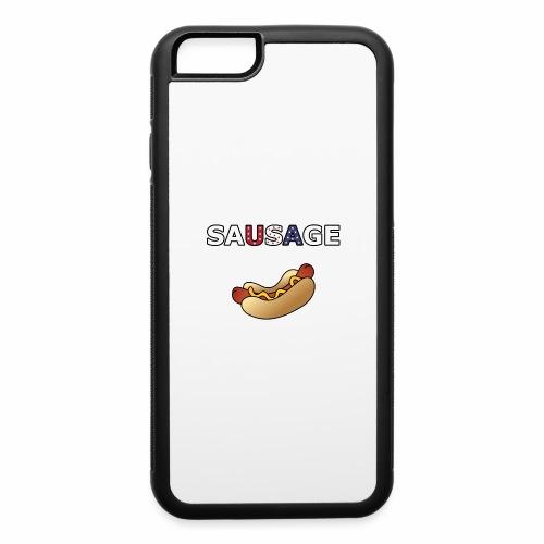 Patriotic BBQ Sausage - iPhone 6/6s Rubber Case