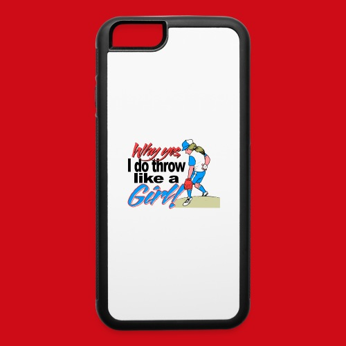 Softball Throw Like a Girl - iPhone 6/6s Rubber Case