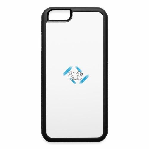 Atheist Republic Logo - Blue & White Stripes - iPhone 6/6s Rubber Case