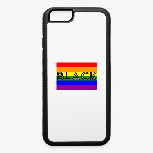 Black LGBTQ - iPhone 6/6s Rubber Case