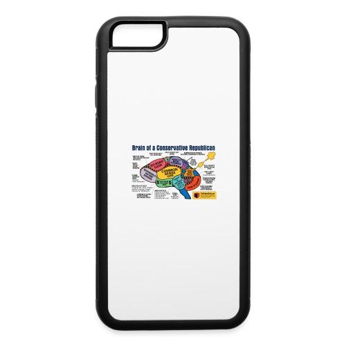 Brain of a Conservative Republican - iPhone 6/6s Rubber Case