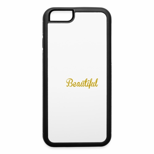 Black & Beautiful Long Sleeve Shirt - iPhone 6/6s Rubber Case