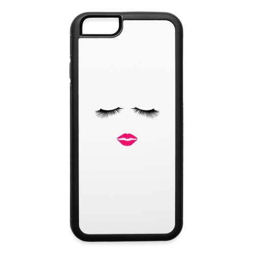 Lipstick and Eyelashes - iPhone 6/6s Rubber Case