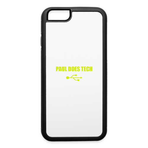 Paul Does Tech Yellow Logo With USB (MERCH) - iPhone 6/6s Rubber Case