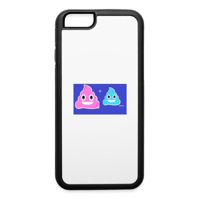 blue and pink poop