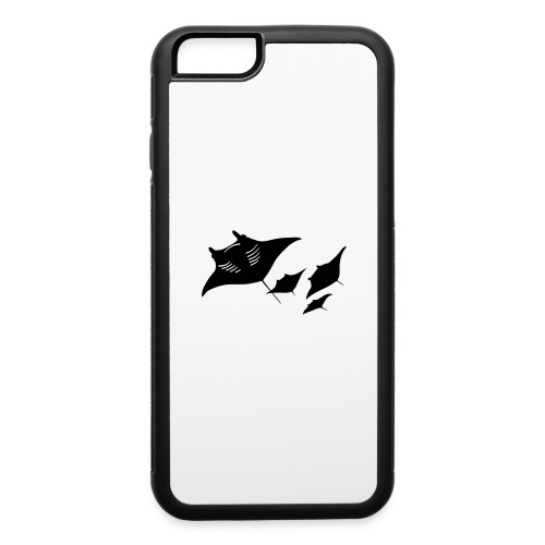 manta ray sting scuba diving diver dive - iPhone 6/6s Rubber Case