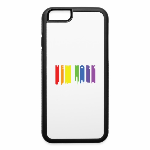 New York design Rainbow - iPhone 6/6s Rubber Case