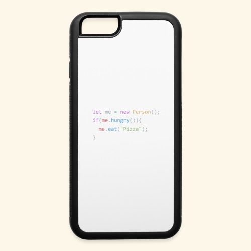 Pizza Code - Colored Version - iPhone 6/6s Rubber Case