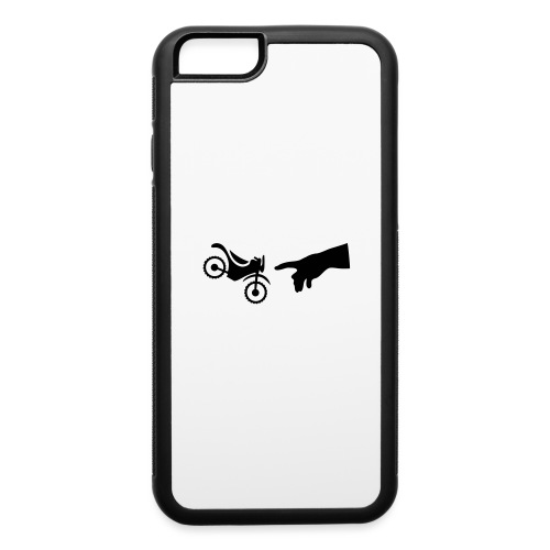 The hand of god brakes a motorcycle as an allegory - iPhone 6/6s Rubber Case