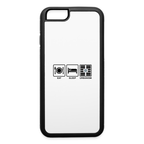 Eat Sleep Urb big fork-LG - iPhone 6/6s Rubber Case