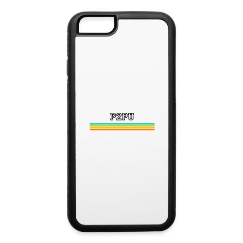 striped mug black logo png - iPhone 6/6s Rubber Case