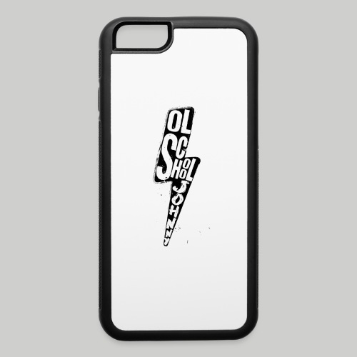 Ol' School Johnny Black and White Lightning Bolt - iPhone 6/6s Rubber Case