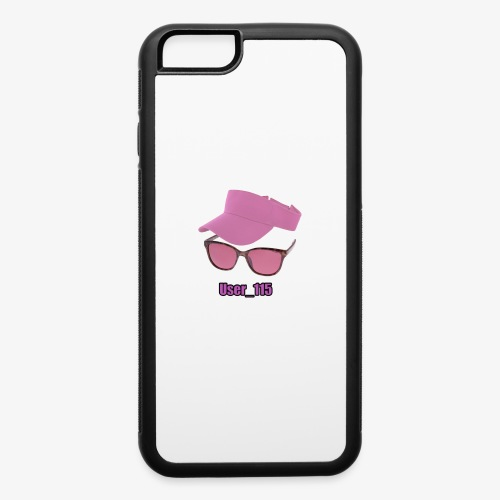 Glasses And Hat - iPhone 6/6s Rubber Case
