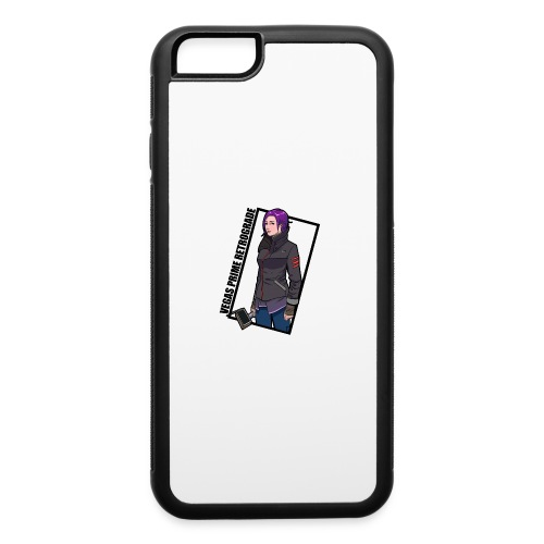 Vegas Prime Retrograde - Clara with Black Border - iPhone 6/6s Rubber Case