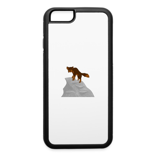 Wolf looking down on Boulder - iPhone 6/6s Rubber Case