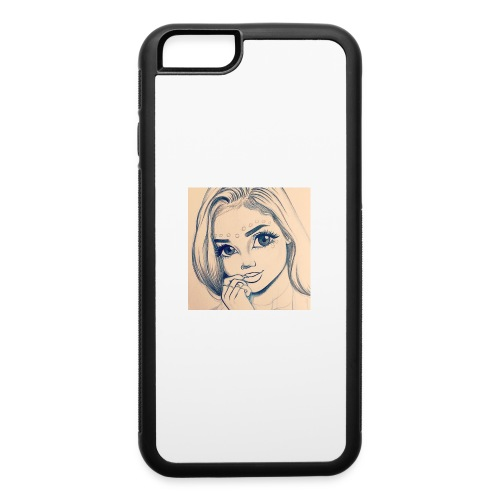 c7cae63168a24ef3c45fb8482aa467a3 drawing girls - iPhone 6/6s Rubber Case