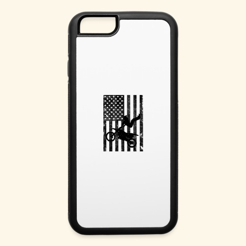 American Flag (Black and white) - iPhone 6/6s Rubber Case