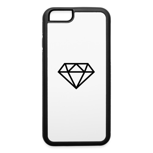 diamond outline 318 36534 - iPhone 6/6s Rubber Case