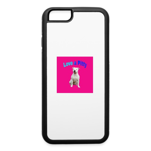 Pink Pit Bull - iPhone 6/6s Rubber Case