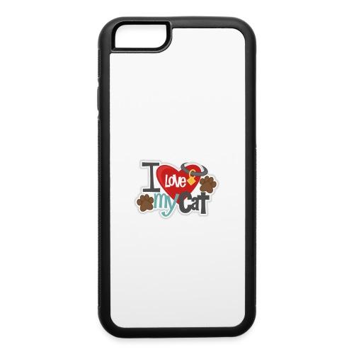 i love my cat - iPhone 6/6s Rubber Case
