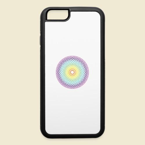 Torus Yantra Hypnotic Eye rainbow - iPhone 6/6s Rubber Case