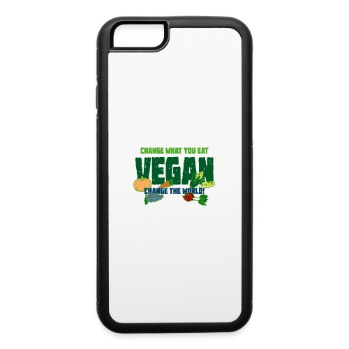 Change what you eat, change the world - Vegan - iPhone 6/6s Rubber Case