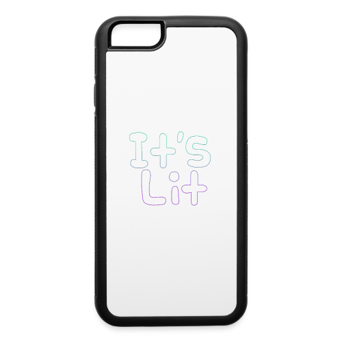 2-Tone It's Lit! Design - iPhone 6/6s Rubber Case