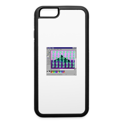 Desire windows xp paint whale edition - iPhone 6/6s Rubber Case