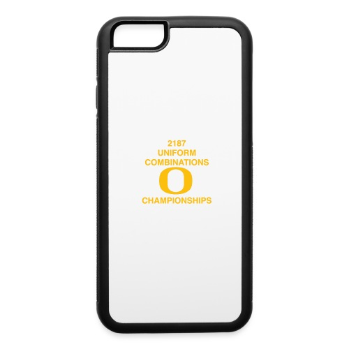 2187 UNIFORM COMBINATIONS O CHAMPIONSHIPS - iPhone 6/6s Rubber Case