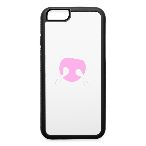 Pink Whimsical Dog Nose - iPhone 6/6s Rubber Case