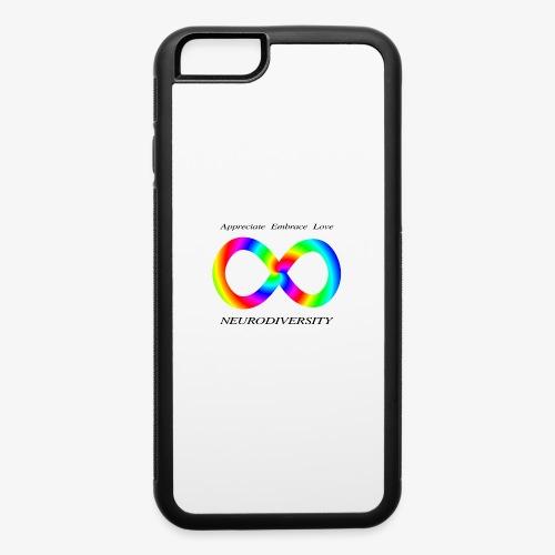 Embrace Neurodiversity with Swirl Rainbow - iPhone 6/6s Rubber Case