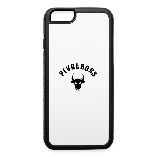 PivotBoss Curved Logo - Black - iPhone 6/6s Rubber Case