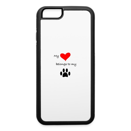Dog Lovers shirt - My Heart Belongs to my Dog - iPhone 6/6s Rubber Case