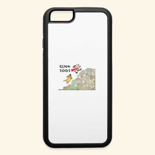 Dog chasing kid - iPhone 6/6s Rubber Case