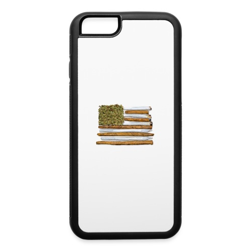 American Flag With Joint - iPhone 6/6s Rubber Case