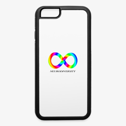 Neurodiversity with Rainbow swirl - iPhone 6/6s Rubber Case