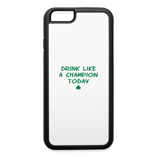 Drink Like A Champion Shamrock - iPhone 6/6s Rubber Case