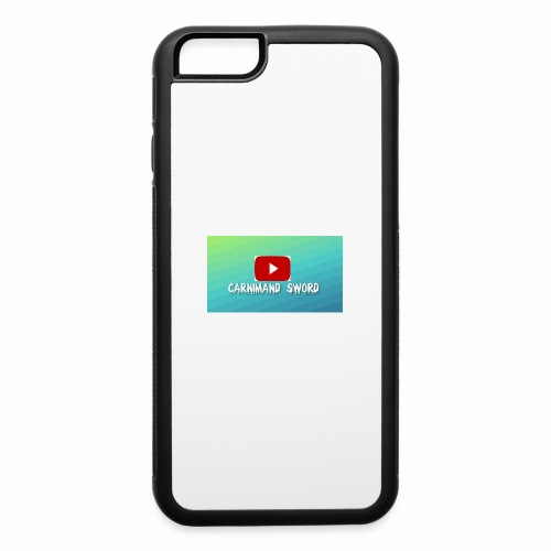 Carnimand Sword with Youtube sign - iPhone 6/6s Rubber Case