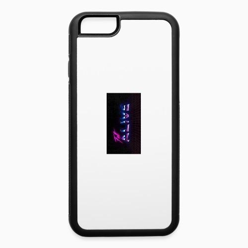 felt alive grid - iPhone 6/6s Rubber Case