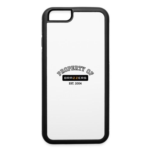 Property of Brazzers logo outline - iPhone 6/6s Rubber Case