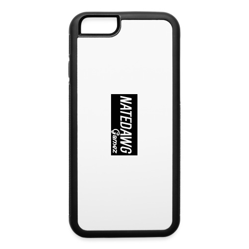 White And Grey/Black Merch - iPhone 6/6s Rubber Case
