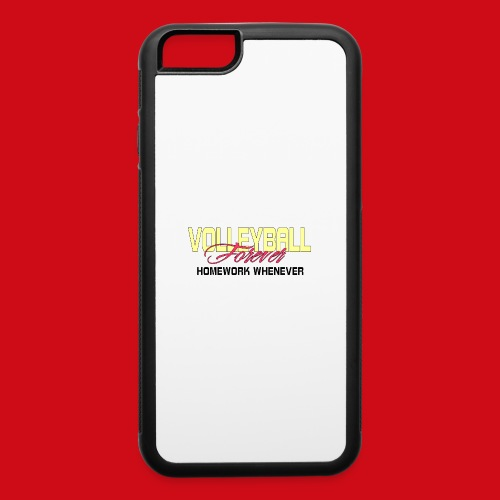 Volleyball Forever Homework Whenever - iPhone 6/6s Rubber Case